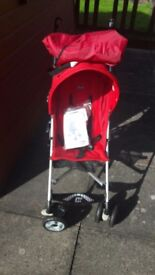 chicco buggie red in colour