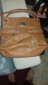 Jimmy Choo brown leather handbag