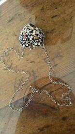 Heart shaped keepsake necklace