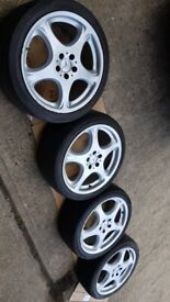 "4x 19"" alloy wheels (5x112) - all have small dents - Mercedes Volkswagen Audi"