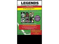 Looking for Footballers Sunday 2nd April Legends Tournament
