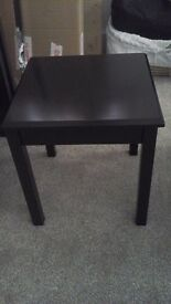 ** DARK BROWN SIDE TABLE - £5 **