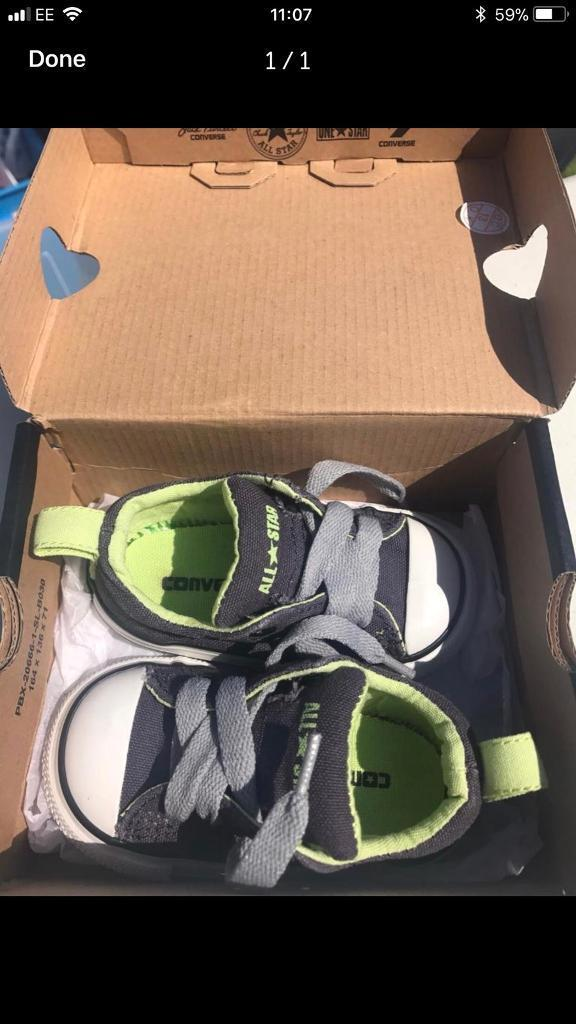 Infant converse size 4. In box