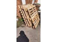 Two wooden pallets available FREE