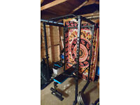 Olympic Power Squat Rack / Cage (plus dip station and pull up bar)