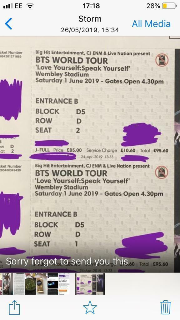 BTS concert tickets | in Northampton, Northamptonshire | Gumtree