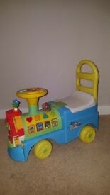 Kiddieland Leapfrog See And Learn Alphabet Ride-on Train