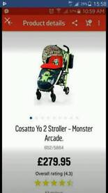 For sale my cosatto yo2 pram.