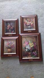 Set of 4 Flower Prints