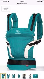 Manduca standard edition 3-in-1 baby carrier petrol colour as new