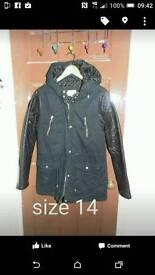 Faux leather parka coat rrp 45