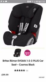 Britax evolva 1-2-3 car seat x2 £25 each