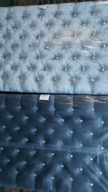 FREE Delivery FREE Extra High Designer Headboard PREMIUM QUALITY MATTRESS 10 Colours Double Bed King