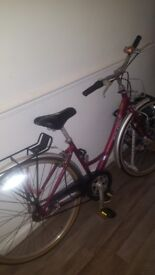 Ladies Raleigh caprice cerise red beautiful bicycle