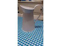 White enamel vintage style decorative jug