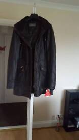Ladies Leather coat brown