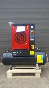 New 7.5hp 230v 1ph Chicago Pneumatic screw air compressor