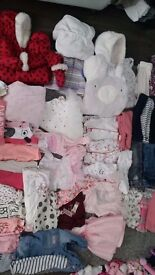 Baby girls clothes bundles ranging from 0-3 to 12-18 months