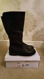 Ladies Evans Lorena Black Boots size 6EEE