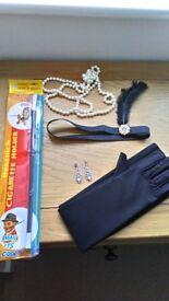 1920s flapper costume accessories set