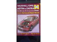 Vauxhall Astra & Zafira Haynes Manual 98 - 04 diesel
