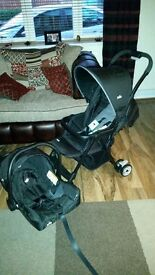 Pushchair and carseat joie juva