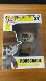 Very Rare Boxed DC Comics Funko Pop! Watchmen Rorschach Figure - £140