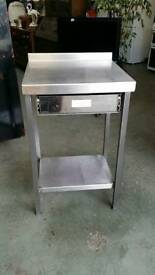 Stainless steel preparation bench