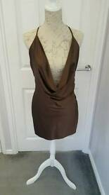 Size L Celeb Boutique Satin Dress