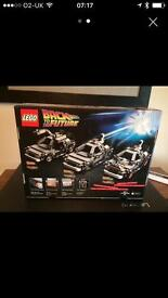 RARE - Back to the Future Lego - BNIB