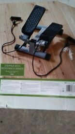 New stepper with resistance bands.