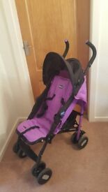 Chicco pushchair in purple
