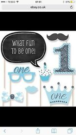 1st Birthday boy Photobooth props for sale