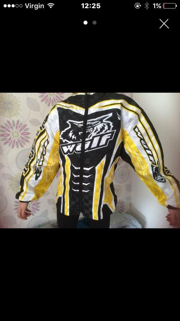 "Wolf sport bike jacket 10 15 small 32in Denny, FalkirkGumtree - Wolf sport bike jacket32""Small10 15 years? Small man?Collect from Denny Bargain"