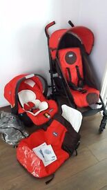Puschairs travel system Chicco Liteway plus (fire red)
