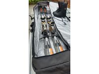 Skis, Boots and Bag