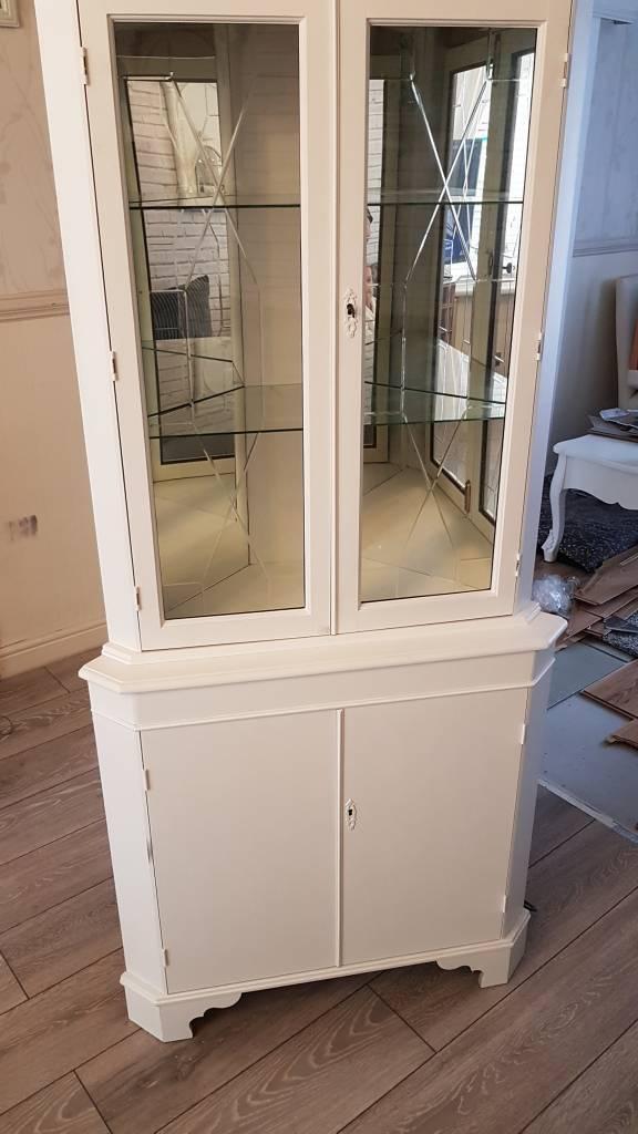 Shabby chic corner display cabinet...£40 ono