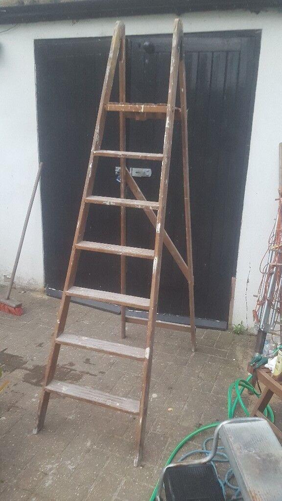 Vintage Wooden Step Ladder 65ft Tall 6 Steps In Enfield London Gumtree