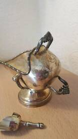Vintage silver plated sugar basin