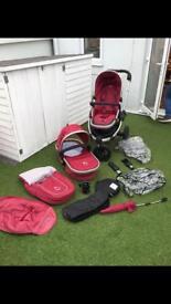 iCandy Jogger + Car Seat & isofix (iZi Go). Group 0+ Age 0-3 years
