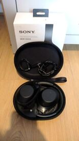 Sony MDR-1000x Wireless Noise Cancelling Headphones - Black