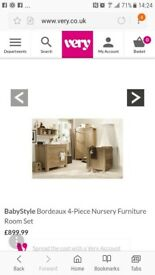 Bordeaux Babystyle Baby/toddler 4piece funiture set.