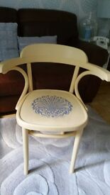 Wooden chair hand painted