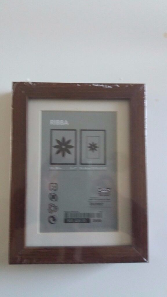 Brand New and Sealed** Dark brown picture frames x 17