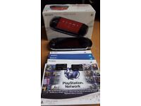 PSP 3000 Series Slim and Lite PB + 2x Sony 4GB memory card + 7 games + original box and charger