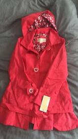 Michael Kors girls coat 7/8 brand new with tags kids red