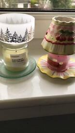 Two Yankee candle shade sets small
