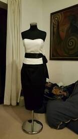 Ladies Satin bustier top and top size 12