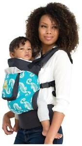 NEW 4 in 1 ESSENTIALS Baby Carrier by LILLEbaby  Charcoal Seahorses