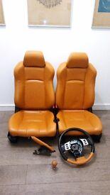 Nissan 350z Leather Interior, Seats, Steering Wheel, Handbrake and Gearknob